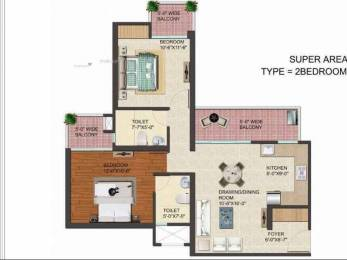 1150 sqft, 2 bhk Apartment in JM Flora Sector 1 Noida Extension, Greater Noida at Rs. 38.3000 Lacs