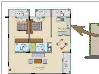 1200 sqft, 2 bhk Apartment in Insight Gokula Thanisandra, Bangalore at Rs. 65.0000 Lacs