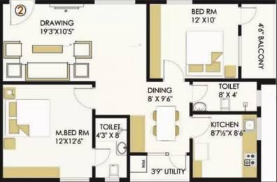 1100 sqft, 2 bhk Apartment in Myspace Akshaya Doddanekundi, Bangalore at Rs. 41.1000 Lacs