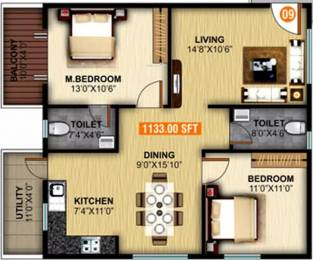 1133 sqft, 2 bhk Apartment in United Elysium 2 Whitefield Hope Farm Junction, Bangalore at Rs. 34.0000 Lacs