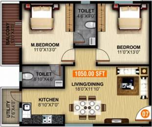 1050 sqft, 2 bhk Apartment in United Elysium 2 Whitefield Hope Farm Junction, Bangalore at Rs. 32.0000 Lacs