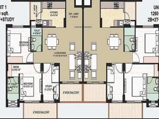1260 sqft, 2 bhk Apartment in Omaxe The Resort Mullanpur, Mohali at Rs. 41.4300 Lacs