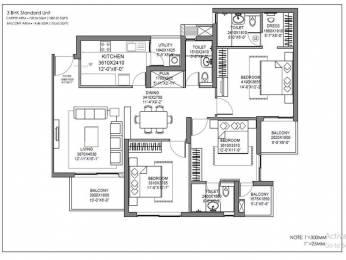 1689 sqft, 3 bhk Apartment in Hero Homes Gurgaon Sector 104, Gurgaon at Rs. 1.0401 Cr