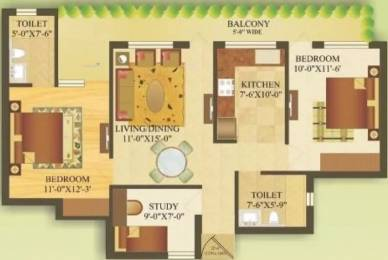 1265 sqft, 2 bhk Apartment in Gardenia Gateway Sector 75, Noida at Rs. 56.0000 Lacs