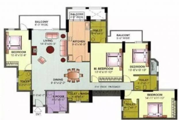 2575 sqft, 4 bhk Apartment in DLF The Icon Sector 43, Gurgaon at Rs. 70000