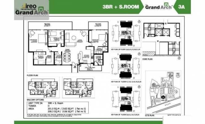 2163 sqft, 3 bhk Apartment in Ireo The Grand Arch Sector 58, Gurgaon at Rs. 42000