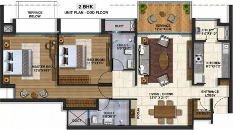 1323 sqft, 2 bhk Apartment in Lodha Belmondo Gahunje, Pune at Rs. 90.0000 Lacs