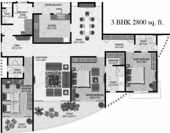 2800 sqft, 3 bhk Apartment in Clover Palisades Kondhwa, Pune at Rs. 45000