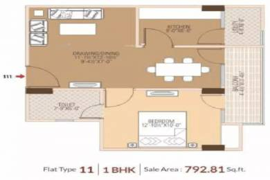 792 sqft, 1 bhk Apartment in Dhanuka Sunshine Prime Dholai, Jaipur at Rs. 30.9682 Lacs