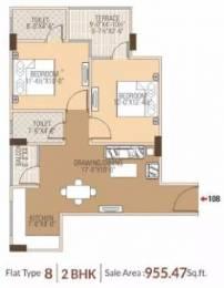 955 sqft, 2 bhk Apartment in Dhanuka Sunshine Prime Dholai, Jaipur at Rs. 32.4500 Lacs