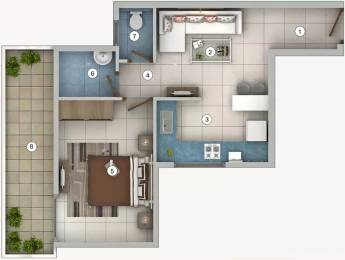588 sqft, 1 bhk Apartment in Pivotal Riddhi Siddhi Sector 99, Gurgaon at Rs. 18.1200 Lacs