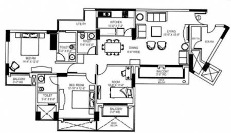 1625 sqft, 3 bhk Apartment in Shipra Srishti Ahinsa Khand 1, Ghaziabad at Rs. 23000