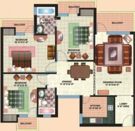 1600 sqft, 3 bhk Apartment in Jaipuria Sunrise Greens Crossing Republik, Ghaziabad at Rs. 35000