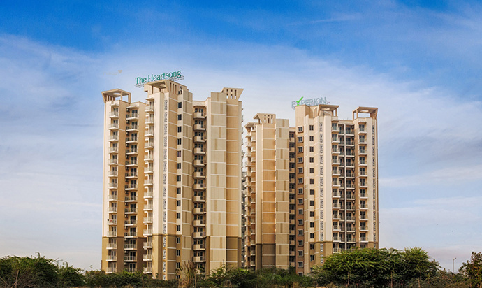 1758 sq ft 3BHK 3BHK+2T (1,758 sq ft) + Servant Room Property By Property Space In The Heartsong, Sector 108
