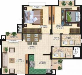 897 sqft, 2 bhk Apartment in Mahima Bellevista Jagatpura, Jaipur at Rs. 28.1703 Lacs