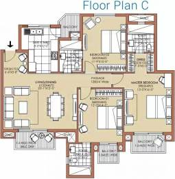 1900 sqft, 3 bhk Apartment in ATS Golf Meadows Lifestyle Ashiana Colony, Dera Bassi at Rs. 14000