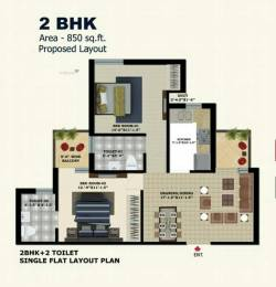 850 sqft, 2 bhk Apartment in Builder The ADDRESS 2 BHK Flats New Chandigarh Mullanpur, Chandigarh at Rs. 24.9000 Lacs
