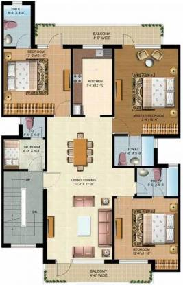 1725 sqft, 3 bhk Apartment in Omaxe Cassia Mullanpur, Mohali at Rs. 57.0000 Lacs