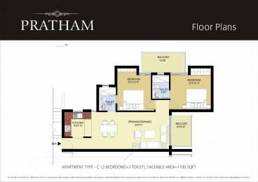 1100 sqft, 2 bhk Apartment in Puri Pratham Sector 84, Faridabad at Rs. 41.5000 Lacs