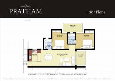 1100 sqft, 2 bhk Apartment in Puri Pratham Sector 84, Faridabad at Rs. 42.2000 Lacs