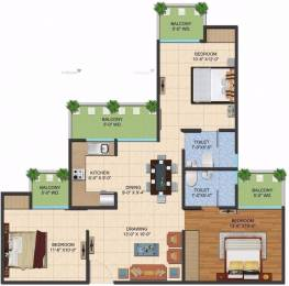 1195 sqft, 3 bhk Apartment in Ajnara LeGarden Sector 16 Noida Extension, Greater Noida at Rs. 33.4600 Lacs