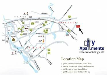 585 sqft, 1 bhk Apartment in Aditya World City NH 24 Highway, Ghaziabad at Rs. 17.9500 Lacs