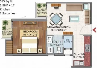 585 sqft, 1 bhk Apartment in Aditya Urban Homes Dasna, Ghaziabad at Rs. 15.6500 Lacs