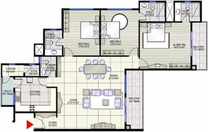 2072 sqft, 3 bhk Apartment in Prestige Shantiniketan Whitefield Hope Farm Junction, Bangalore at Rs. 40000