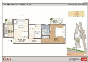 980 sqft, 2 bhk Apartment in Builder BDI Ambram Alwar bypass road bhiwadi, Delhi at Rs. 24.0000 Lacs