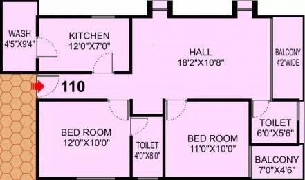 1127 sqft, 2 bhk Apartment in Shri Krishna Solitaire Park Sudama Nagar, Indore at Rs. 15000
