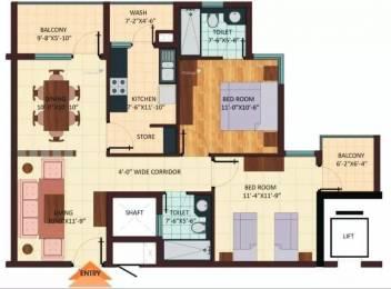 1285 sqft, 2 bhk Apartment in Shristi Avasa Bijalpur, Indore at Rs. 12500