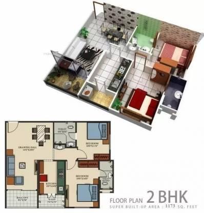 1173 sqft, 2 bhk Apartment in Sai Century Park Rajendra Nagar, Indore at Rs. 10000