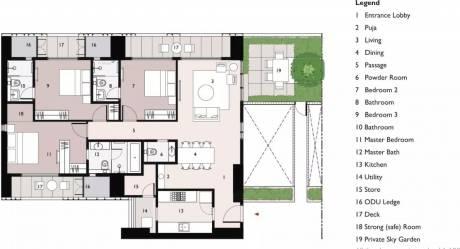 1701 sqft, 3 bhk Apartment in Lodha New Cuffe Parade Wadala, Mumbai at Rs. 75000
