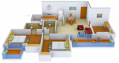 1618 sqft, 2 bhk Apartment in Ansal The Fernhill Sector 91, Gurgaon at Rs. 60.0000 Lacs