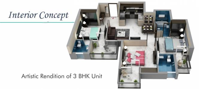 1500 sqft, 3 bhk Apartment in Builder prestige towers Sector 117 Mohali, Mohali at Rs. 37.9000 Lacs