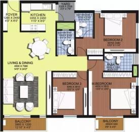 1850 sqft, 3 bhk Apartment in ASV Alexandria Sholinganallur, Chennai at Rs. 1.3000 Cr