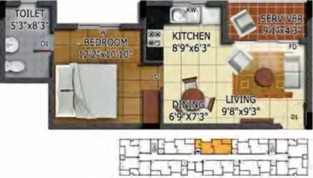 622 sqft, 1 bhk Apartment in Radiance Mandarin Thoraipakkam OMR, Chennai at Rs. 20000
