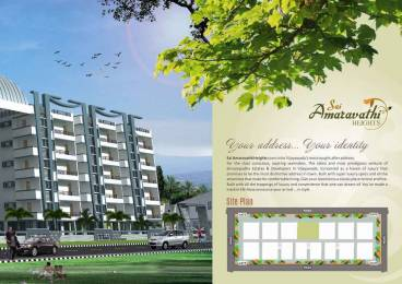 1700 sqft, 3 bhk Apartment in Builder SAI AMARAVATHI HEIGHTS Bhavanipuram, Vijayawada at Rs. 55.0000 Lacs
