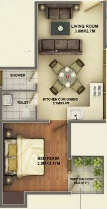 417 sqft, 1 bhk Apartment in Ramsons Kshitij Sector 95, Gurgaon at Rs. 13.5000 Lacs