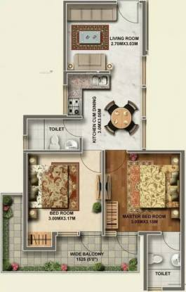 596 sqft, 2 bhk Apartment in Ramsons Kshitij Sector 95, Gurgaon at Rs. 22.0000 Lacs