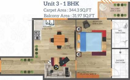 488 sqft, 1 bhk Apartment in Arete Our Homes 3 Sector 6 Sohna, Gurgaon at Rs. 12.5534 Lacs