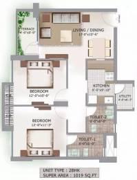 1019 sqft, 2 bhk Apartment in 3C Lotus Boulevard Sector 100, Noida at Rs. 62.6200 Lacs