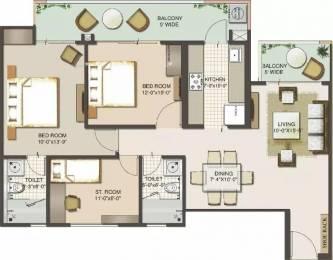 1350 sqft, 2 bhk Apartment in Mahagun Moderne Sector 78, Noida at Rs. 78.3000 Lacs
