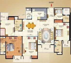 2175 sqft, 4 bhk Apartment in Mahagun Maple Sector 50, Noida at Rs. 1.2500 Cr