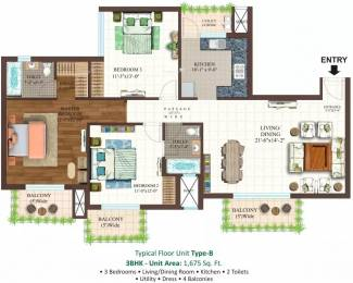 1675 sqft, 3 bhk Apartment in Ace Golfshire Sector 150, Noida at Rs. 75.0000 Lacs