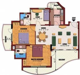 1130 sqft, 2 bhk Apartment in Builder Project Sector-82 Noida, Noida at Rs. 72.0000 Lacs