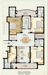 2400 sqft, 3 bhk Apartment in Eldeco Sylvan View Sector 93A, Noida at Rs. 2.3000 Cr