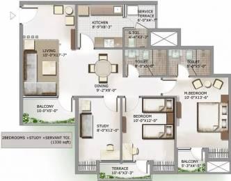 1330 sqft, 2 bhk Apartment in 3C Lotus Panache Sector 110, Noida at Rs. 67.5000 Lacs