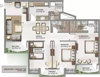 1415 sqft, 3 bhk Apartment in 3C Lotus Panache Sector 110, Noida at Rs. 70.8000 Lacs
