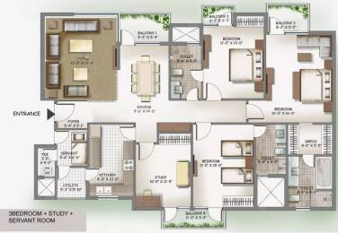 2255 sqft, 3 bhk Apartment in 3C Lotus Boulevard Espacia Sector 100, Noida at Rs. 1.2900 Cr